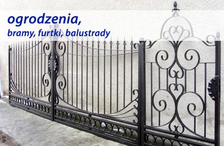 Ogrodzenia, bramy, balustrady